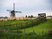 De windmolen van Kinderdijk stock foto