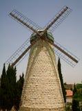 De windmolen van Montefiore in Jeruzalem stock foto