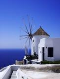 De windmolen van Santorini Royalty-vrije Stock Foto's