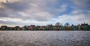 De Windmolenpark van Zaanseschans, Nederland royalty-vrije stock foto