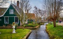 De Windmolenpark van Zaanseschans, Nederland stock fotografie