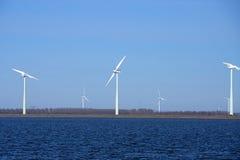 De windmolens van de energie Stock Afbeelding