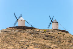 De Windmolens van Don Quixote in Consuegra Spanje Royalty-vrije Stock Foto