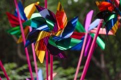 De Windmolens van het stuk speelgoed Stock Foto