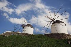 De Windmolens van Mykonos Royalty-vrije Stock Foto