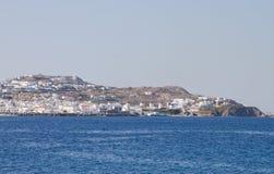 De windmolens van Mykonos - Griekenland Royalty-vrije Stock Foto