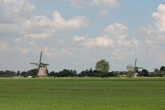 De Windmolens van Streefkerk stock fotografie