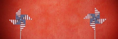 De windvangers van de V.S. voor rode muur Royalty-vrije Stock Fotografie