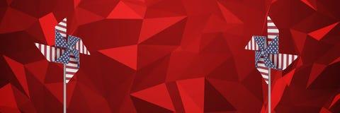 De windvangers van de V.S. voor rode veelhoeken Stock Foto's