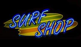De Winkel van de Branding van het neon Royalty-vrije Stock Afbeelding