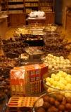 De winkel van de chocolade stock afbeeldingen