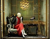 De winkel van de de luxemanier van Prada in Italië Royalty-vrije Stock Foto's