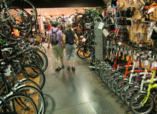 De winkel van de fiets Stock Fotografie