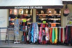 De winkel van de gift in het hart van Parijs Stock Afbeelding