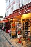 De winkel van de gift in het hart van Parijs Stock Foto's