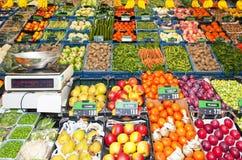 De winkel van de groentehandelaar Stock Afbeelding