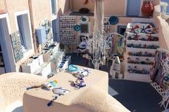 De winkel van de herinnering Santorini stock foto's