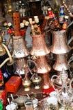 De winkel van de herinnering in Sarajevo, Bosnië-Herzegovina stock foto's