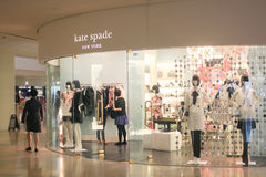 De winkel van de Katespade in Hong Kong Royalty-vrije Stock Foto
