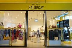 De winkel van de Katespade in Westgate, Jurong-het Oosten in Singapore stock fotografie
