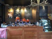 De Winkel van de koffie Stock Afbeeldingen