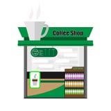 De Winkel van de koffie Stock Foto