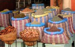 De winkel van de kruidkundige in Marokko Royalty-vrije Stock Foto's