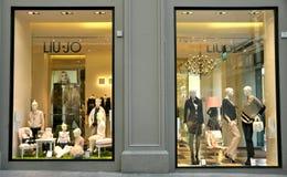 De winkel van de manier in Italië Royalty-vrije Stock Afbeeldingen
