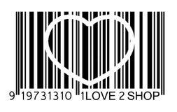 De winkel van de streepjescode Stock Afbeeldingen