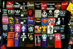 De winkel van de t-shirt Stock Foto's