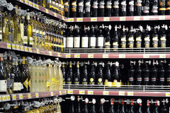 De winkel van de wijn Stock Fotografie