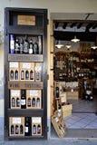 De winkel van de wijn in Toscanië, Italië Royalty-vrije Stock Foto