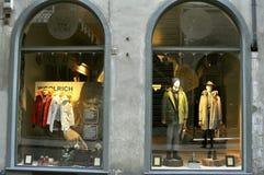 De winkel van de Woolrichmanier in Florence, Italië Stock Afbeelding