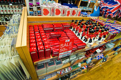 De winkel van herinneringen in Londen Stock Foto's