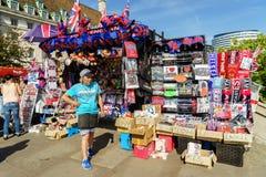 De winkel van herinneringen in Londen Stock Afbeelding