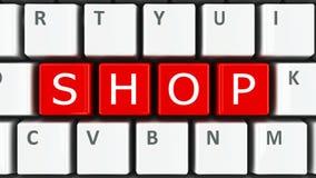 De winkel van het computertoetsenbord vector illustratie