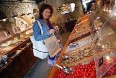 De winkel van het suikergoed Stock Foto