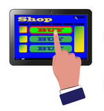 De Winkel van het Web Stock Foto's