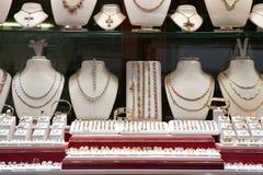 De winkel van juwelen Stock Foto's