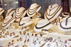 De winkel van juwelen Stock Afbeeldingen