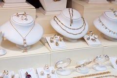 De winkel van juwelen Stock Fotografie