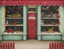 De winkel van Kerstmis. vector illustratie