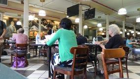De Winkel van de koffie stock videobeelden