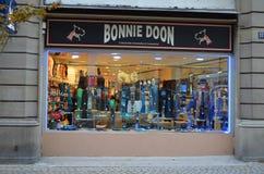 De winkel van kousen in Straatsburg/Frankrijk Royalty-vrije Stock Foto's