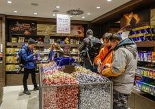 De Winkel van de Lindtchocolade in Jungfraujoch royalty-vrije stock afbeeldingen