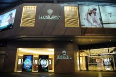 De winkel van Rolex Stock Fotografie