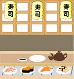 De winkel van sushi Stock Illustratie