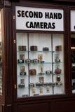 De winkel van tweede handcamera's in Wenen Stock Afbeelding
