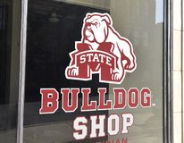 De Winkel van de de Universiteitsbuldog van de Staat van de Mississippi royalty-vrije stock foto