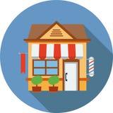 De winkelbouw pictogramvector Royalty-vrije Stock Afbeeldingen